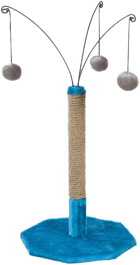 Когтеточка  Велес , с тремя игрушками, 35 х 35 х 53 см - Когтеточки и игровые комплексы