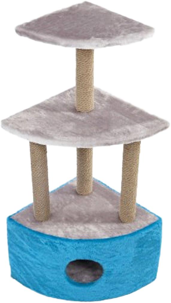 Домик-когтеточка Велес, угловой, 3-этажный, 40 х 40 х 117 см6Домики Велес украсят интерьер вашей квартиры, дадут вашему любимцу уютный и красивый дом, а вам - уверенность в сохранности мебели и интерьера.