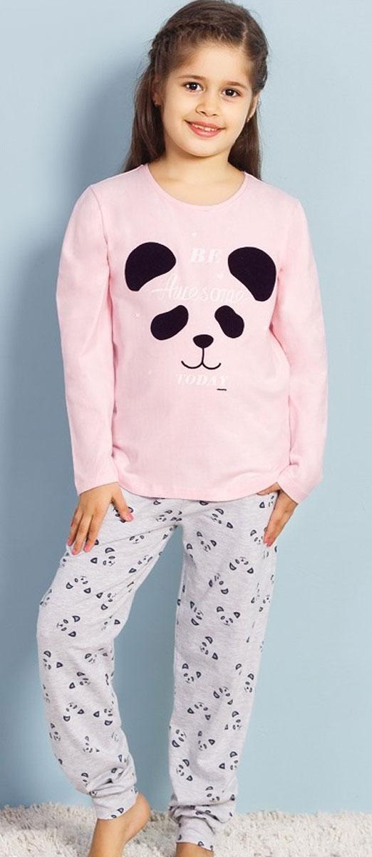 Комплект домашний для девочек Vienetta's Secret Мишка, цвет: розовый. 706078 2064. Размер 134/146