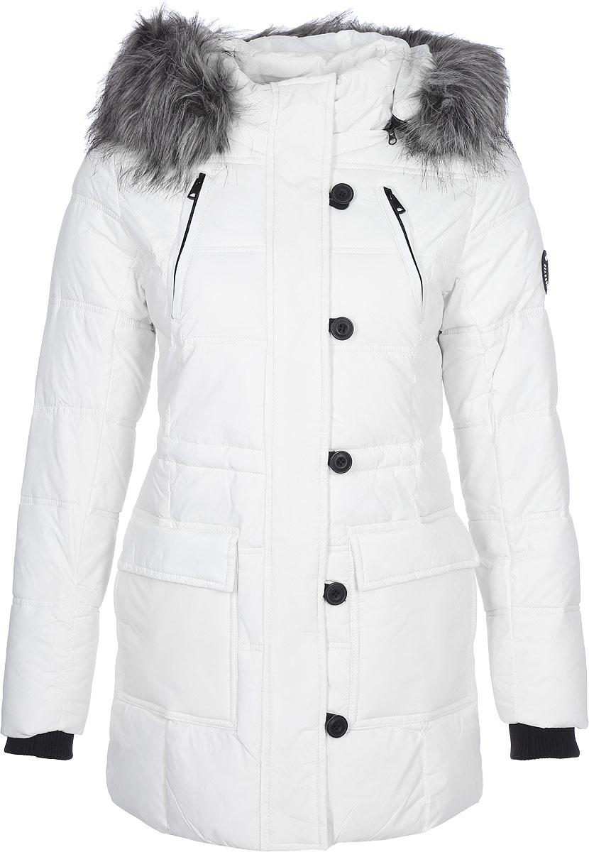 Куртка женская Only, цвет: белый. 15138391_Cloud Dancer. Размер XS (40/42)15138391_Cloud DancerЖенская куртка Only выполнена из стеганого текстиля и утеплена синтепоном. Модель приталенного кроя с воротником-стойкой и съемным капюшоном со съемной отделкой из искусственного меха застегивается на молнию с ветрозащитной планкой на пуговицах и кнопках. Изделие дополнено шестью внешними карманами и внутренней кулиской на талии. Рукава дополнены мягкими трикотажными манжетами.