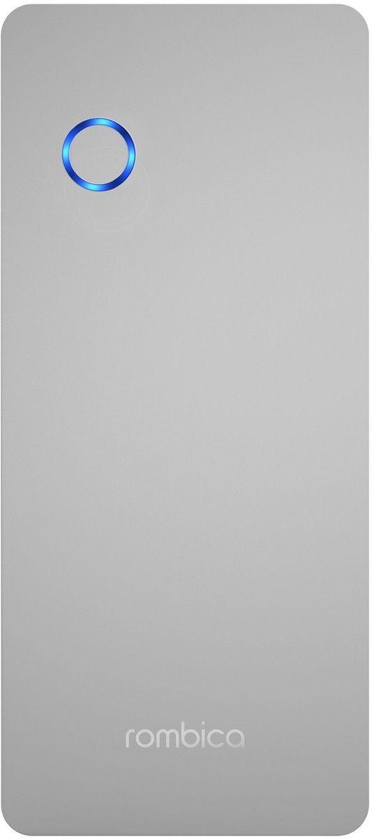 Rombica Neo Pro 180, Silver внешний аккумулятор (18000 мАч)PRO-0180Внешний аккумулятор Rombica Neo Pro 180 заряжает большинство мобильных устройств: смартфоны, планшеты,плееры, цифровые камеры и т.д. Легкий и компактный источник энергии у вас в кармане! Оборудован батареей большойемкости, что позволяет в условиях отдаленности от электрических сетей, продлить использование мобильныхустройств.Литий-полимерный аккумулятор LED индикатор оставшегося заряда Зарядка ноутбуков Два USB выхода Зарядка трёх устройств одновременно Множественная система защиты для безопасной зарядки устройств Алюминиевый корпус с эффектом дымки