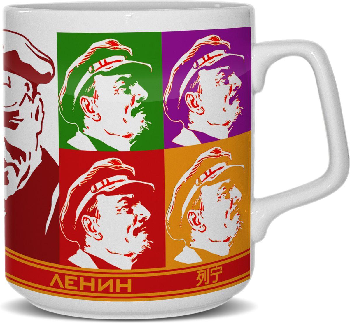 Кружка Priority Ленин в стиле Уорхолл, 350 млКРС - 627Кружка 350 мл.. (фарфор) Октябрь 17-го (Ленин в стиле Уорхолл) в подарочной упаковке
