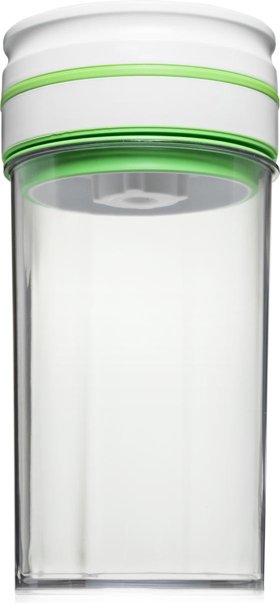Контейнер вакуумный Comboez, 1,8 л, 2 штCK009LПластиковый вакуумный контейнер-маринатор идеально подходит для быстрого маринования овощей, фруктов, мяса и рыбы. Контейнер позволит сохранить презентабельный вид продуктов и продлить их свежесть. Контейнер изготовлен из высококачественного пищевого пластика, который при взаимодействии с продуктами не окрашивается и не впитывает запахов. Автоматический вакуумный насос интегрирован в герметичную крышку. В случае ослабления, вакуум автоматически восстанавливается.Тип питания - батарейка тип С (1,5х2) или АА.