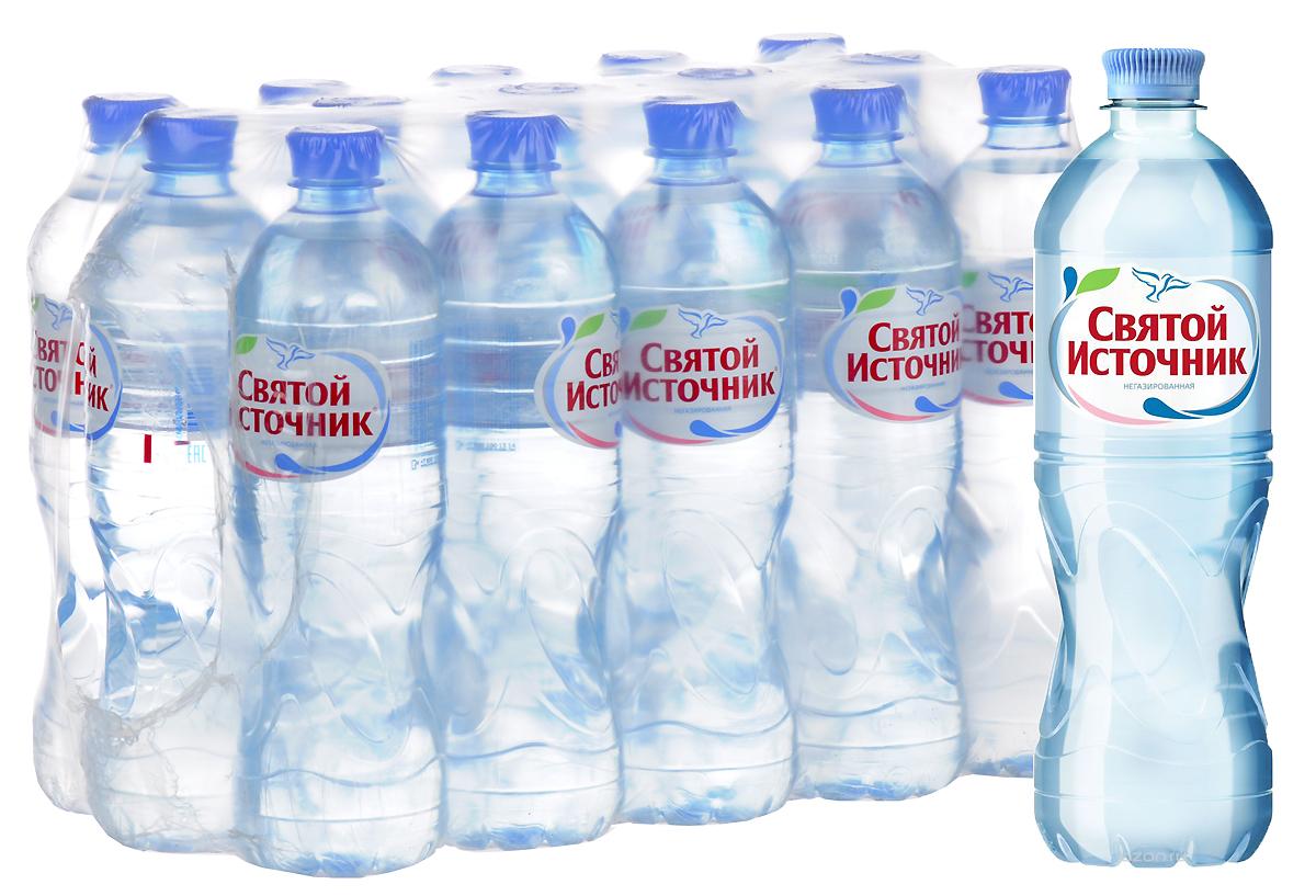 СвятойИсточник вода природная питьевая негазированная, 15 штук по 0,75 л вода святой источник без газа 1 5 л 6шт