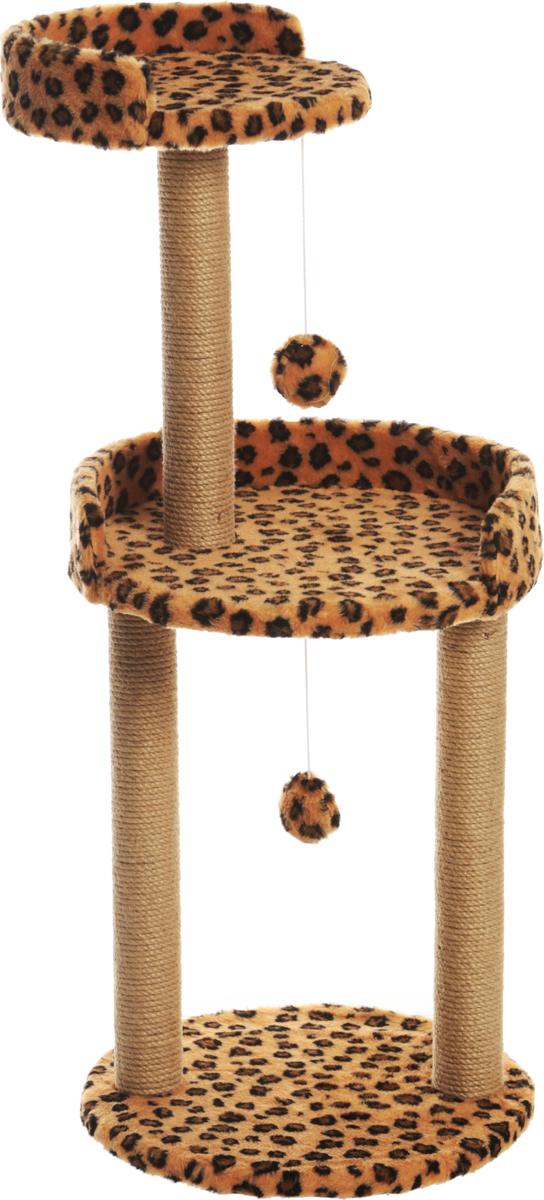 Когтеточка Меридиан, с игрушкой и площадкой, цвет: леопардовый, 43 х 43 х 100 смК512ЛеКогтеточка с круглой площадкой и игрушкой Меридиан предназначена для стачивания когтейвашей кошки и предотвращения их врастания. Волокна ковролина обеспечивает естественныйуход за когтями питомца. Когтеточка позволяетсохранить неповрежденными мебель и другие предметы интерьера. Высота когтеточки: 100 см. Диаметр основания: 41,5 см. Общий размер: 43 х 43 х 100 см.