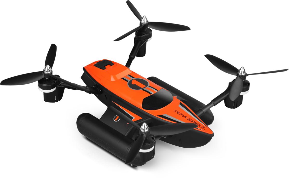 Wltoys Квадрокоптер на радиоуправлении Q353 3 в 1 цвет черный оранжевый
