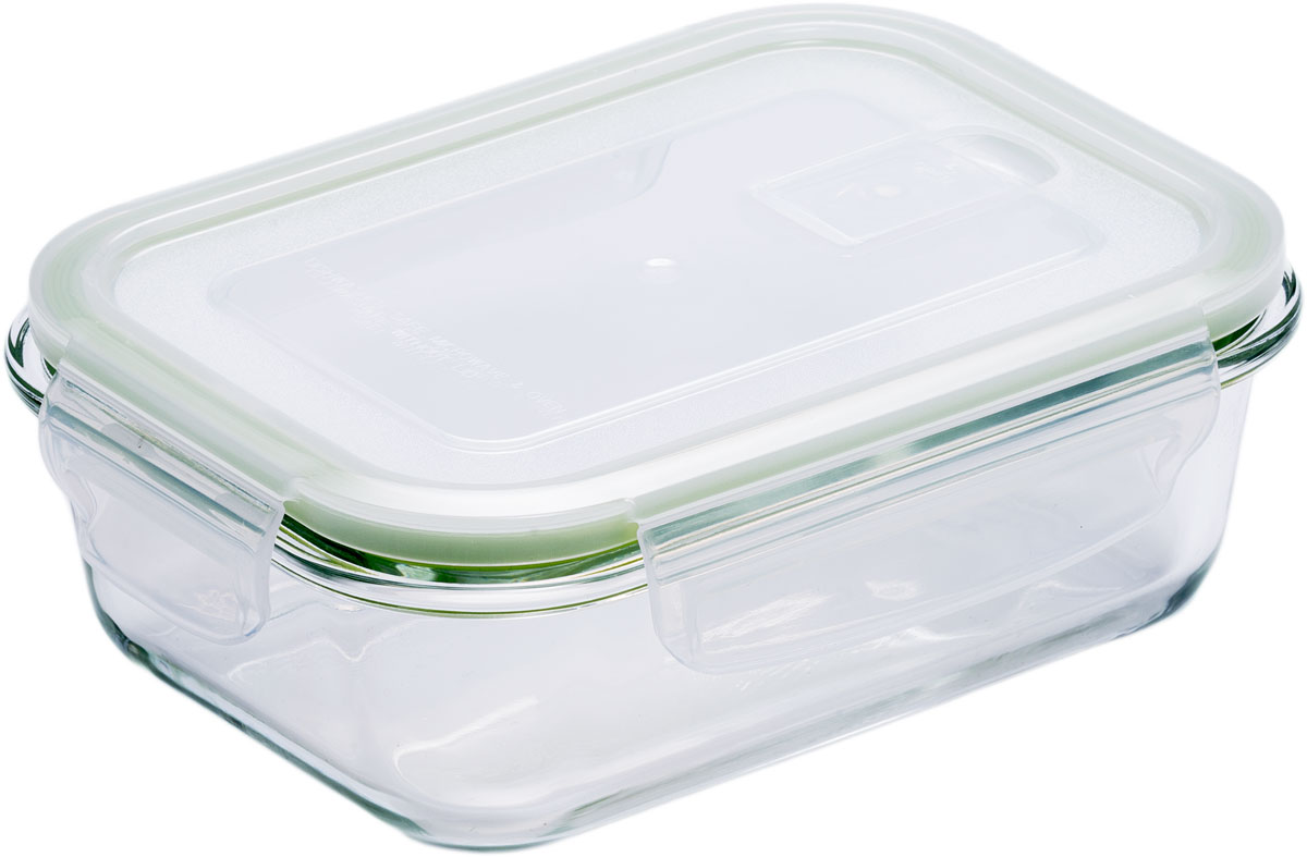 Контейнер пищевой Eley, прямоугольный, цвет: зеленый, 630 млELP2402GПрямоугольный пищевой контейнер Eley выполнен из жаропрочного боросиликатного стекла. Крышка Air Lock изготовлена из полипропилена иоснащена силиконовым уплотнителем, для обеспечения полной герметичности внутри контейнера. В крышку встроен вентиляционный клапан дляудобства использования в холодильных и морозильных камерах.Он подходит для использования в микроволновой печи и духовке (без крышки). Подходит для использования в холодильнике и морозильной камере. Подходит для использования в посудомоечной машине.Контейнер можно использовать как форму для запекания (до +400 С).