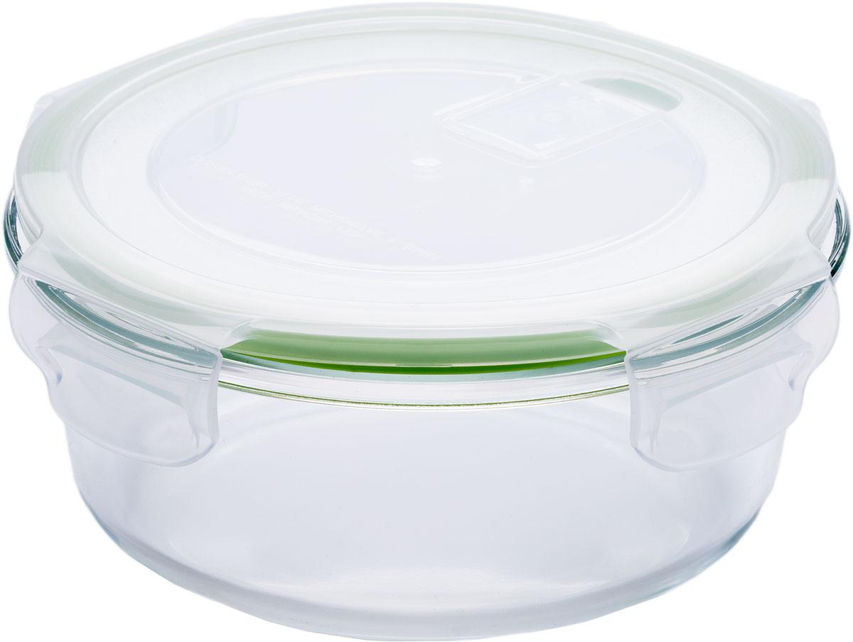 Контейнер пищевой Eley, цвет: зеленый, 640 млELP2802GКонтейнер круглый Eley 640 мл пищевой из жаропрочного боросиликатного стекла.1. Подходит для использования в микроволновой печи и духовке (без крышки); 2. Подходит для использования в холодильнике и морозильной камере;3. Подходит для использования в посудомоечной машине;4. Можно использовать как форму для запекания (до +400 С).5. Крышка Air Lock изготовлена из полипропилена и оснащена силиконовым уплотнителем, для обеспечения полной герметичности внутри контейнера. 6. В крышку встроен вентиляционный клапан для удобства использования в холодильных и морозильных камерах.