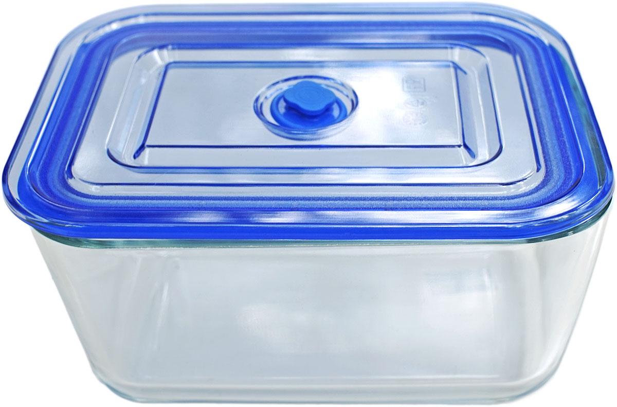 Контейнер пищевой Eley, квадратный, цвет: синий, 3,05 л. ELV5403BELV5403BКвадратный пищевой контейнер Eley выполнен из жаропрочного боросиликатного стекла. Крышка Air Lock изготовлена из полипропилена и оснащена силиконовым уплотнителем, для обеспечения полной герметичности внутри контейнера. В крышку встроен вентиляционный клапан для удобства использования в холодильных и морозильных камерах. Он подходит для использования в микроволновой печи и духовке (без крышки).Подходит для использования в холодильнике и морозильной камере.Подходит для использования в посудомоечной машине. Контейнер можно использовать как форму для запекания (до +400 С).