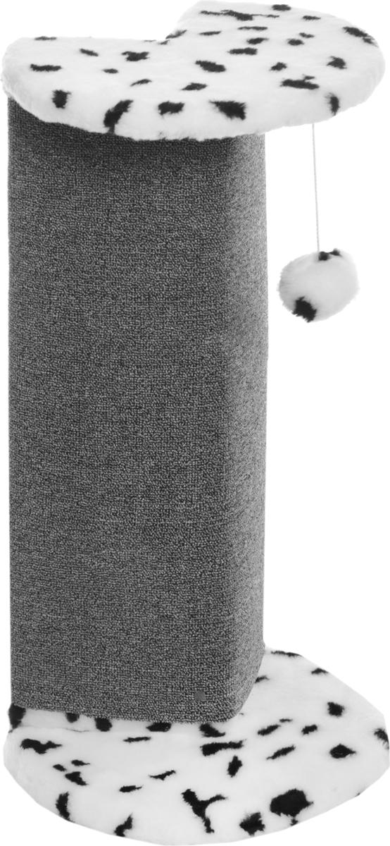 Когтеточка Меридиан Далматин, угловая, с игрушкой, 34 х 34 х 74 смК024ДУгловая когтеточка Меридиан Далматин предназначена для стачивания когтей вашей кошки и предотвращения их врастания. Волокна ковролина обеспечивает естественный уход за когтями питомца. Когтеточка позволяет сохранить неповрежденными мебель и другие предметы интерьера.Высота когтеточки: 74 см.Диаметр: 34 см.
