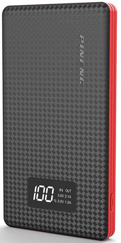 Pineng PN-960, Black внешний аккумулятор (6000 мАч)PN-960BKВнешний портативный аккумулятор Pineng PN-960 стал еще тоньше и легче своих предшественников благодаря использованию новейших плоских и более легких литий-полимерных батарей.Pineng PN-960 идеален для ежедневного использования, краткосрочных поездок и путешествий. Упакован в прочный, но легкий корпус из ударопрочного пластика в новом дизайне. Размер устройства сопоставим с размером телефона, поэтому его удобно держать в кармане.