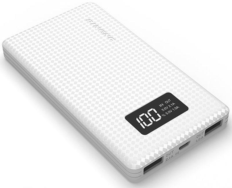 Pineng PN-960, White внешний аккумулятор (6000 мАч)PN-960WHВнешний портативный аккумулятор Pineng PN-960 стал еще тоньше и легче своих предшественников благодаряиспользованию новейших плоских и более легких литий-полимерных батарей.Pineng PN-960 идеален для ежедневного использования, краткосрочных поездок и путешествий. Упакован впрочный, но легкий корпус из ударопрочного пластика в новом дизайне. Размер устройства сопоставим сразмером телефона, поэтому его удобно держать в кармане.