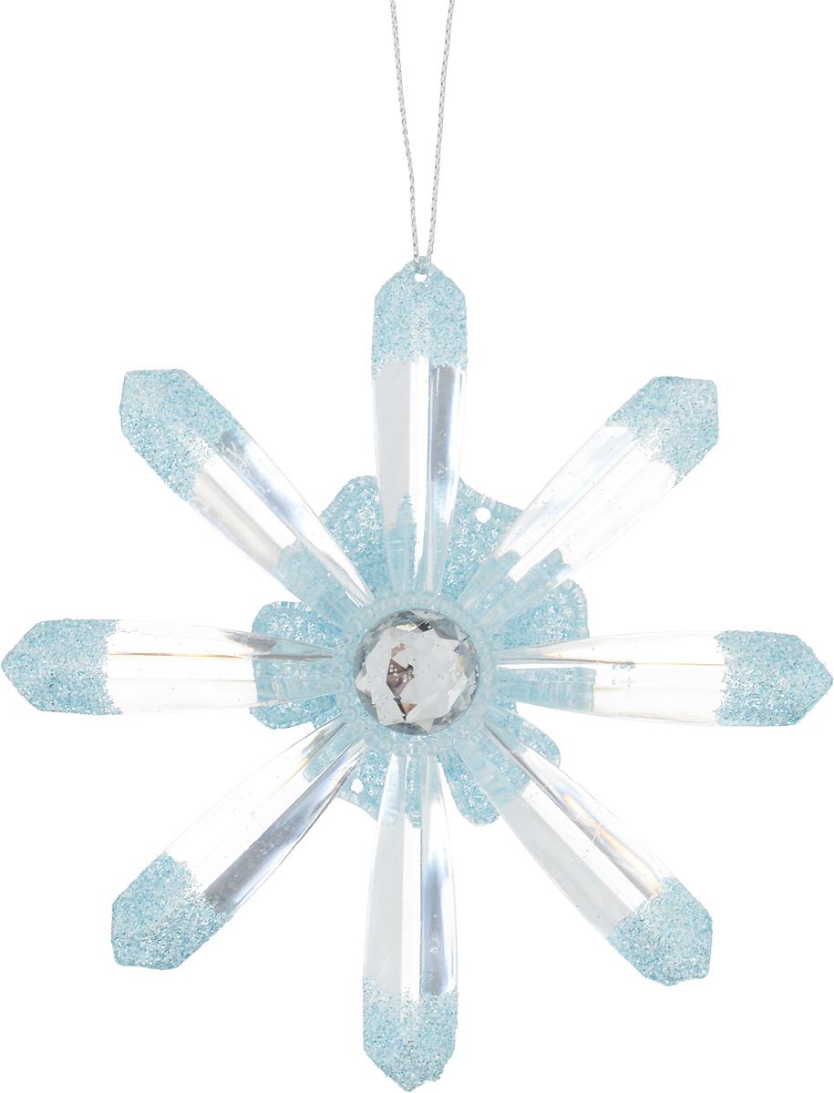 Украшение для интерьера новогоднее Erich Krause Снежинка лучистая, диаметр 12 см украшение для интерьера новогоднее erich krause падающая снежинка 8 5 см