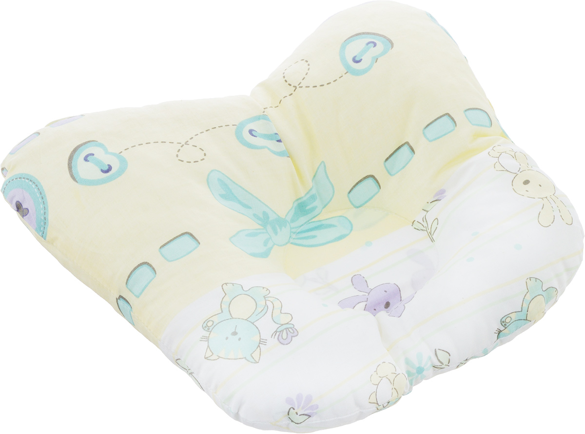 Сонный гномик Подушка анатомическая для младенцев цвет желтый мятный 27 х 27 см555А_желтый, мятный бантикАнатомическая подушка для младенцев Сонный гномик компактна и удобнадля пеленания малыша и кормления на руках, она также незаменима для сна ребенка в кроватке и комфортна для использования в коляске напрогулке. Углубление в подушке фиксирует правильное положение головы ребенка.Подушка помогает правильному формированию шейногоотдела позвоночника.