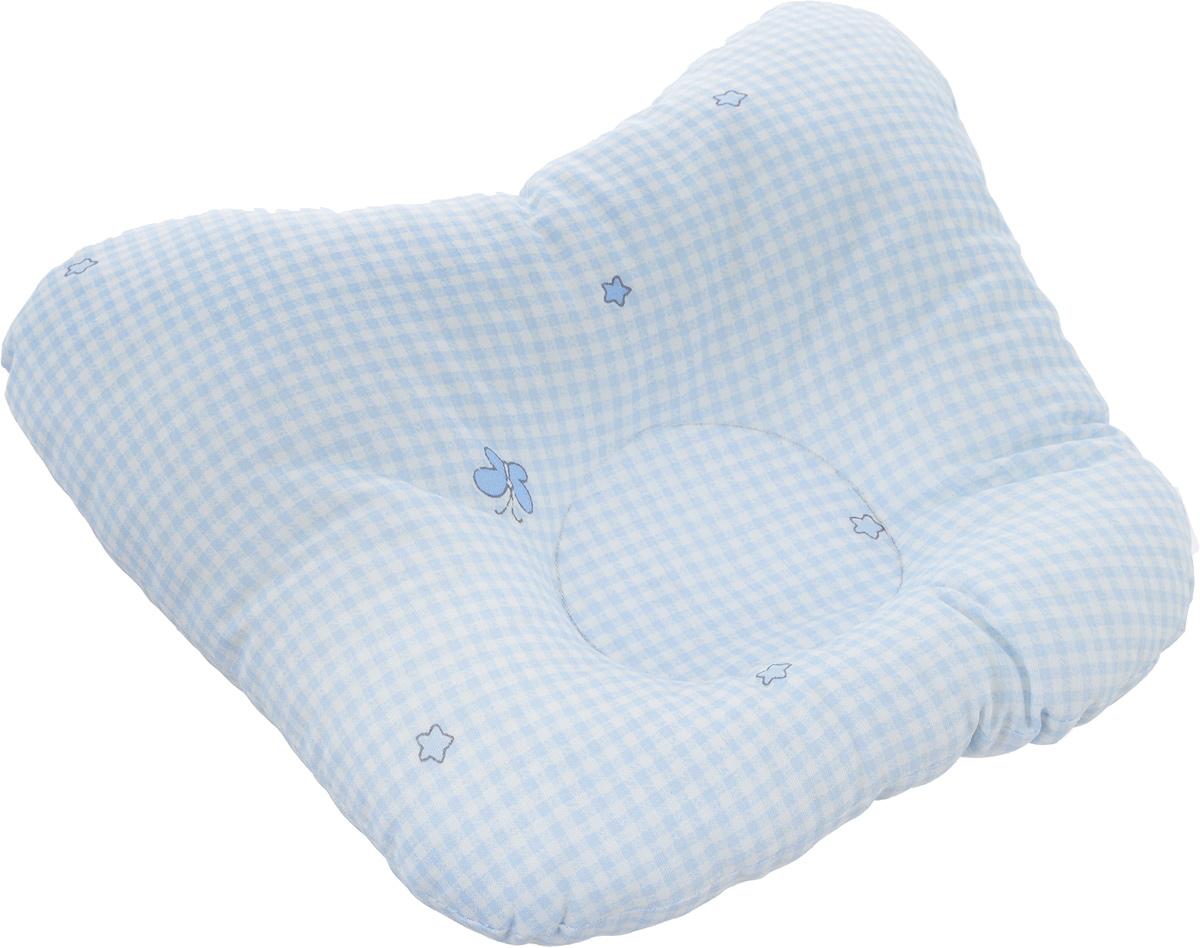 Сонный гномик Подушка анатомическая для младенцев цвет белый, голубой 27 х 27 см555А_белый, голубой, клеткаАнатомическая подушка для младенцев Сонный гномик компактна и удобна для пеленания малыша и кормления на руках, она также незаменима для сна ребенка в кроватке и комфортна для использования в коляске на прогулке. Углубление в подушке фиксирует правильное положение головы ребенка.Подушка помогает правильному формированию шейного отдела позвоночника.