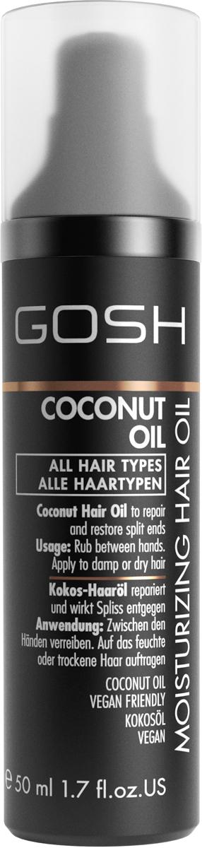 Gosh Масло для волос кокосовое питательное Coconut Oil, 50 мл тайское кокосовое масло для волос