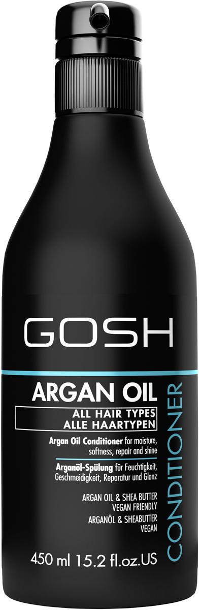 Gosh Кондиционер для волос c аргановым маслом Argan Oil, 450 мл851465GOSH Линия для стайлинга и ухода за волосами - высокоэффективный специализированный уход для красоты и здоровья волос. В ассортименте представлены средства, обеспечивающие оптимальный уход для каждого типа волос – для нормальных, тонких, окрашенных или поврежденных волос. Деликатный состав подходит для ежедневного применения,восстанавливает секущиеся кончики, омолаживает, питает и увлажняет волосы и кожу головы. Сохраняет волосы и кожу головы в здоровом балансе. Все шампуни и кондиционеры содержат активные и питательные ингредиенты,не содержат парабенов.(1011520007;S;Argan;INT) GOSH Кондиционер для волос c аргановым маслом Argan Oil, 450 мл. Средство предназначено для ухода за всеми типами волос.