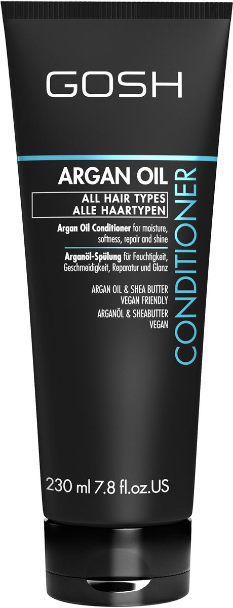 Gosh Кондиционер для волос c аргановым маслом Argan Oil, 230 мл851467GOSH Линия для стайлинга и ухода за волосами - высокоэффективный специализированный уход для красоты и здоровья волос. В ассортименте представлены средства, обеспечивающие оптимальный уход для каждого типа волос – для нормальных, тонких, окрашенных или поврежденных волос. Деликатный состав подходит для ежедневного применения,восстанавливает секущиеся кончики, омолаживает, питает и увлажняет волосы и кожу головы. Сохраняет волосы и кожу головы в здоровом балансе. Все шампуни и кондиционеры содержат активные и питательные ингредиенты,не содержат парабенов. (1011520008;S;Argan;INT) GOSH Кондиционер для волос c аргановым маслом Argan Oil, 230 мл. Средство предназначено для ухода за всеми типами волос.