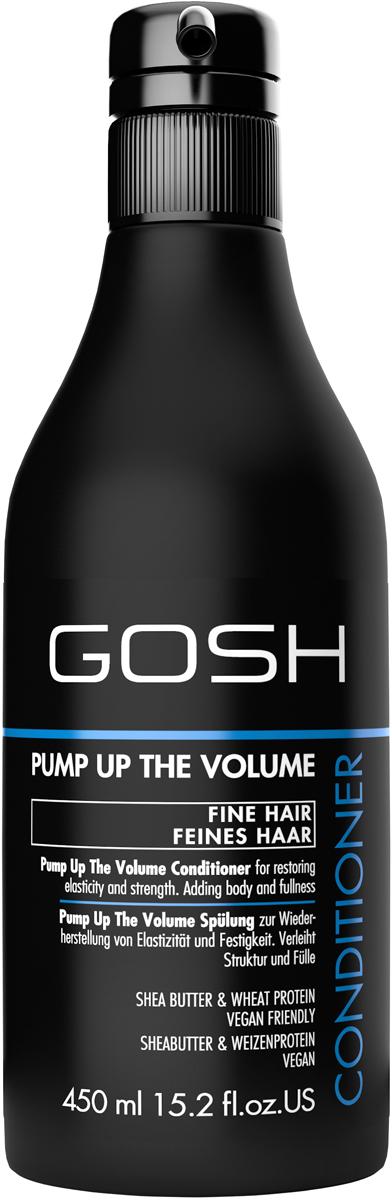 Gosh Кондиционер для объема волос Pump Up The Volume, 450 мл851473GOSH Линия для стайлинга и ухода за волосами - высокоэффективный специализированный уход для красоты и здоровья волос. В ассортименте представлены средства, обеспечивающие оптимальный уход для каждого типа волос – для нормальных, тонких, окрашенных или поврежденных волос. Деликатный состав подходит для ежедневного применения,восстанавливает секущиеся кончики, омолаживает, питает и увлажняет волосы и кожу головы. Сохраняет волосы и кожу головы в здоровом балансе. Все шампуни и кондиционеры содержат активные и питательные ингредиенты,не содержат парабенов. (1011520007;S;Volume;INT) GOSH Кондиционер для объема волос Pump Up The Volume, 450 мл. Средство предназначено для ухода за всеми типами волос.