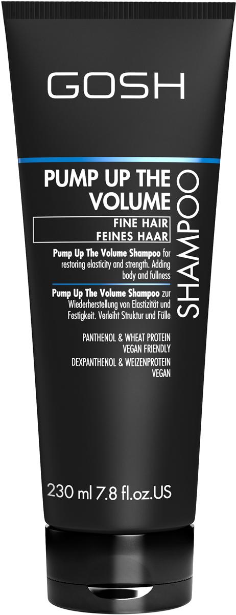 Gosh Шампунь для объема волос Pump Up The Volume, 230 мл851474GOSH Линия для стайлинга и ухода за волосами - высокоэффективный специализированный уход для красоты и здоровья волос. В ассортименте представлены средства, обеспечивающие оптимальный уход для каждого типа волос – для нормальных, тонких, окрашенных или поврежденных волос. Деликатный состав подходит для ежедневного применения,восстанавливает секущиеся кончики, омолаживает, питает и увлажняет волосы и кожу головы. Сохраняет волосы и кожу головы в здоровом балансе. Все шампуни и кондиционеры содержат активные и питательные ингредиенты,не содержат парабенов. (1011510011;S;Volume;INT) GOSH Шампунь для объема волос Pump Up The Volume, 230 мл. Очищающее средство для волос. Придает волосам дополнительный объем на длительное время, восстанавливает естественную эластичность и толщину волос.