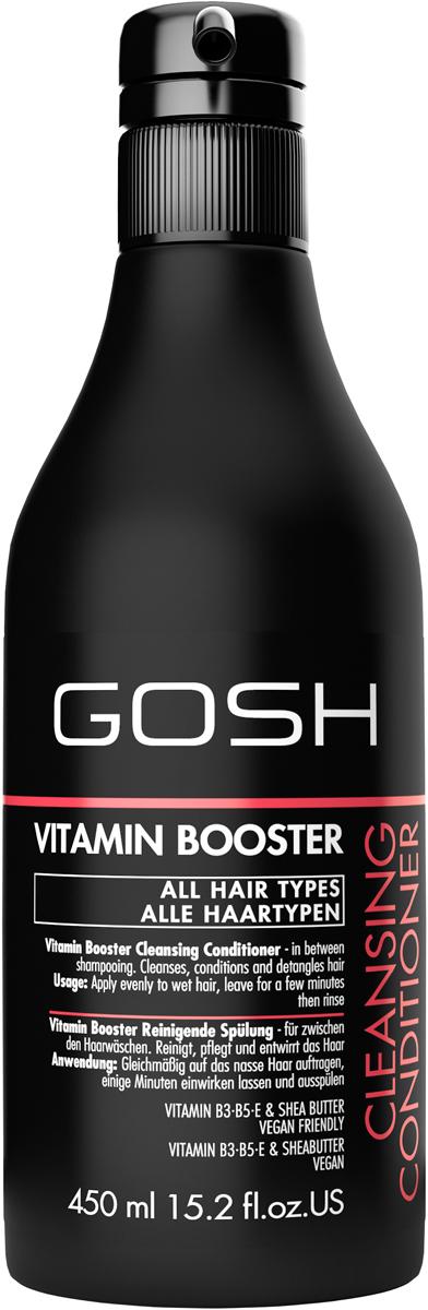 Gosh Кондиционер для волос Vitamin Booster, 450 мл851478GOSH Линия для стайлинга и ухода за волосами - высокоэффективный специализированный уход для красоты и здоровья волос. В ассортименте представлены средства, обеспечивающие оптимальный уход для каждого типа волос – для нормальных, тонких, окрашенных или поврежденных волос. Деликатный состав подходит для ежедневного применения,восстанавливает секущиеся кончики, омолаживает, питает и увлажняет волосы и кожу головы. Сохраняет волосы и кожу головы в здоровом балансе. Все шампуни и кондиционеры содержат активные и питательные ингредиенты,не содержат парабенов. (1011520007;S;Vb;INT) GOSH Кондиционер для волос Vitamin Booster, 450 мл. Средство предназначено для ухода за всеми типами волос.