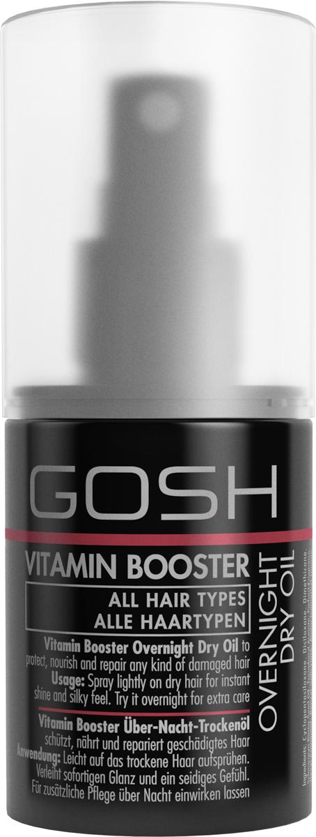 Gosh Масло для волос восстанавливающее Vitamin Booster, 75 мл851483GOSH Линия для стайлинга и ухода за волосами - высокоэффективный специализированный уход для красоты и здоровья волос. В ассортименте представлены средства, обеспечивающие оптимальный уход для каждого типа волос – для нормальных, тонких, окрашенных или поврежденных волос. Деликатный состав подходит для ежедневного применения,восстанавливает секущиеся кончики, омолаживает, питает и увлажняет волосы и кожу головы. Сохраняет волосы и кожу головы в здоровом балансе. Все шампуни и кондиционеры содержат активные и питательные ингредиенты,не содержат парабенов. (1011540016;S;Vb;INT) GOSH Масло для волос восстанавливающее Vitamin Booster, 75 мл. Средство предназначено для ночного ухода за всеми типами волос. Восстанавливает секущиеся кончики, увлажняет и обеспечивает волосам термозащиту.