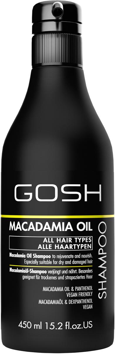 Gosh Шампунь для волос с маслом макадамии Macademia, 450 мл078-01-796333GOSH Линия для стайлинга и ухода за волосами - высокоэффективный специализированный уход для красоты и здоровья волос. В ассортименте представлены средства, обеспечивающие оптимальный уход для каждого типа волос – для нормальных, тонких, окрашенных или поврежденных волос. Деликатный состав подходит для ежедневного применения,восстанавливает секущиеся кончики, омолаживает, питает и увлажняет волосы и кожу головы. Сохраняет волосы и кожу головы в здоровом балансе. Все шампуни и кондиционеры содержат активные и питательные ингредиенты,не содержат парабенов. (1011510010;S;macademia;IN) GOSH Шампунь для волос с маслом макадамии Macademia, 450 мл. Очищающее средство для волос. Оздоравливает, питает и поддерживает в увлажненном состоянии волосы и кожу головы.