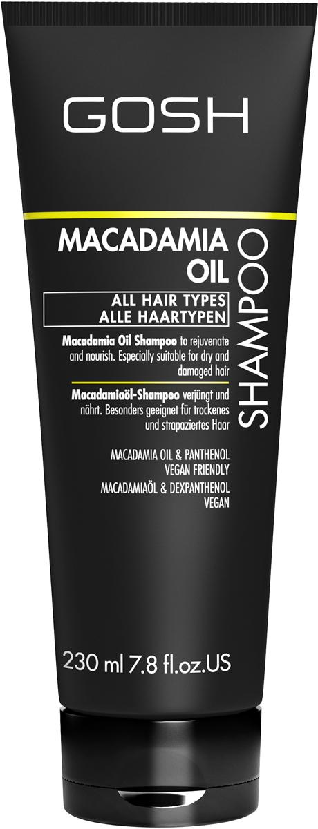 Gosh Шампунь для волос с маслом макадамии Macadamia, 230 мл851486GOSH Линия для стайлинга и ухода за волосами - высокоэффективный специализированный уход для красоты и здоровья волос. В ассортименте представлены средства, обеспечивающие оптимальный уход для каждого типа волос – для нормальных, тонких, окрашенных или поврежденных волос. Деликатный состав подходит для ежедневного применения,восстанавливает секущиеся кончики, омолаживает, питает и увлажняет волосы и кожу головы. Сохраняет волосы и кожу головы в здоровом балансе. Все шампуни и кондиционеры содержат активные и питательные ингредиенты,не содержат парабенов. (1011510011;S;macademia;IN) GOSH Шампунь для волос с маслом макадамии Macadamia, 230 мл. Очищающее средство для волос. Оздоравливает, питает и поддерживает в увлажненном состоянии волосы и кожу головы.