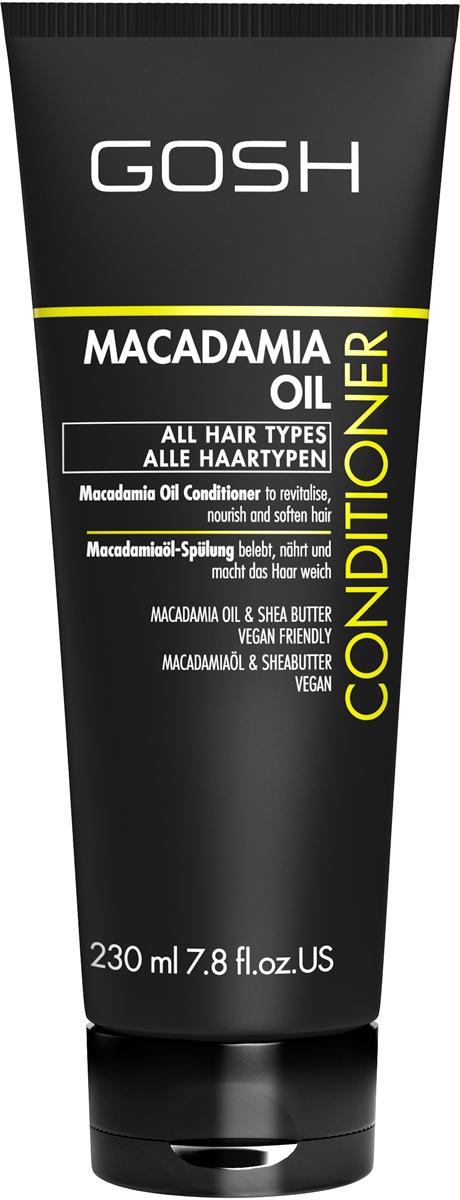 Gosh Кондиционер для волос с маслом макадамии Macadamia, 230 мл851487GOSH Линия для стайлинга и ухода за волосами - высокоэффективный специализированный уход для красоты и здоровья волос. В ассортименте представлены средства, обеспечивающие оптимальный уход для каждого типа волос – для нормальных, тонких, окрашенных или поврежденных волос. Деликатный состав подходит для ежедневного применения,восстанавливает секущиеся кончики, омолаживает, питает и увлажняет волосы и кожу головы. Сохраняет волосы и кожу головы в здоровом балансе. Все шампуни и кондиционеры содержат активные и питательные ингредиенты,не содержат парабенов. (1011520008;S;macademia;IN) GOSH Кондиционер для волос с маслом макадамии Macadamia, 230 мл. Средство предназначено для ухода за всеми типами волос.