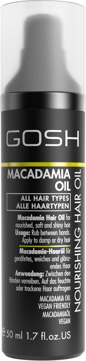 Gosh Масло для волос питательное и увлажняющее Macadamia, 50 мл851488GOSH Линия для стайлинга и ухода за волосами - высокоэффективный специализированный уход для красоты и здоровья волос. В ассортименте представлены средства, обеспечивающие оптимальный уход для каждого типа волос – для нормальных, тонких, окрашенных или поврежденных волос. Деликатный состав подходит для ежедневного применения,восстанавливает секущиеся кончики, омолаживает, питает и увлажняет волосы и кожу головы. Сохраняет волосы и кожу головы в здоровом балансе. Все шампуни и кондиционеры содержат активные и питательные ингредиенты,не содержат парабенов. (1011540015;S;macademia;IN) GOSH Масло для волос питательное и увлажняющее Macadamia, 50 мл. Средство предназначено для ухода за всеми типами волос. Оздоравливает, питает и поддерживает в увлажненном состоянии волосы и кожу головы.