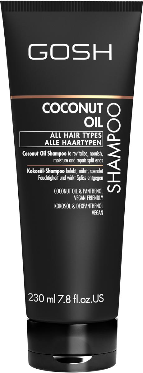 Gosh Шампунь для волос с кокосовым маслом Coconut Oil, 230 млOTM.41GOSH Линия для стайлинга и ухода за волосами - высокоэффективный специализированный уход для красоты и здоровья волос. В ассортименте представлены средства, обеспечивающие оптимальный уход для каждого типа волос – для нормальных, тонких, окрашенных или поврежденных волос. Деликатный состав подходит для ежедневного применения,восстанавливает секущиеся кончики, омолаживает, питает и увлажняет волосы и кожу головы. Сохраняет волосы и кожу головы в здоровом балансе. Все шампуни и кондиционеры содержат активные и питательные ингредиенты,не содержат парабенов. (1011510011;S;Coconut;INT) GOSH Шампунь для волос с кокосовым маслом Coconut Oil, 230 мл. Очищающее средство для волос. Восстанавливает секущиеся кончики, омолаживает, питает и увлажняет волосы и кожу головы.