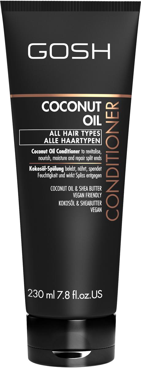 Gosh Кондиционер для волос с кокосовым маслом Coconut Oil, 230 мл851492GOSH Линия для стайлинга и ухода за волосами - высокоэффективный специализированный уход для красоты и здоровья волос. В ассортименте представлены средства, обеспечивающие оптимальный уход для каждого типа волос – для нормальных, тонких, окрашенных или поврежденных волос. Деликатный состав подходит для ежедневного применения,восстанавливает секущиеся кончики, омолаживает, питает и увлажняет волосы и кожу головы. Сохраняет волосы и кожу головы в здоровом балансе. Все шампуни и кондиционеры содержат активные и питательные ингредиенты,не содержат парабенов. (1011520008;S;Coconut;INT) GOSH Кондиционер для волос с кокосовым маслом Coconut Oil, 230 мл. Средство предназначено для ухода за всеми типами волос.