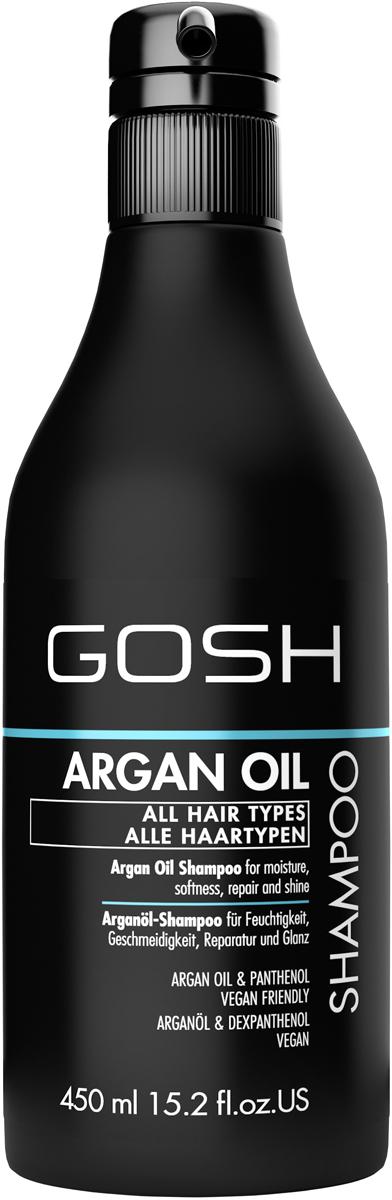 Gosh Шампунь для волос c аргановым маслом Argan Oil, 450 мл851494GOSH Линия для стайлинга и ухода за волосами - высокоэффективный специализированный уход для красоты и здоровья волос. В ассортименте представлены средства, обеспечивающие оптимальный уход для каждого типа волос – для нормальных, тонких, окрашенных или поврежденных волос. Деликатный состав подходит для ежедневного применения,восстанавливает секущиеся кончики, омолаживает, питает и увлажняет волосы и кожу головы. Сохраняет волосы и кожу головы в здоровом балансе. Все шампуни и кондиционеры содержат активные и питательные ингредиенты,не содержат парабенов. (1011510010;S;Argan;INT) GOSH Шампунь для волос c аргановым маслом Argan Oil, 450 мл. Очищающее средство для волос. Идеально подходит для питания, увлажнения и восстановления волос.
