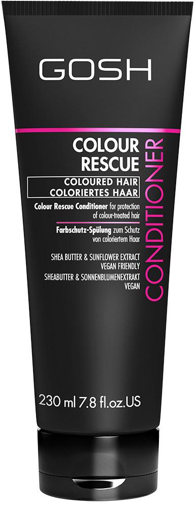 Gosh Кондиционер для окрашенных волос Colour Rescue, 230 мл851471GOSH Линия для стайлинга и ухода за волосами - высокоэффективный специализированный уход для красоты и здоровья волос. В ассортименте представлены средства, обеспечивающие оптимальный уход для каждого типа волос – для нормальных, тонких, окрашенных или поврежденных волос. Деликатный состав подходит для ежедневного применения,восстанавливает секущиеся кончики, омолаживает, питает и увлажняет волосы и кожу головы. Сохраняет волосы и кожу головы в здоровом балансе. Все шампуни и кондиционеры содержат активные и питательные ингредиенты,не содержат парабенов. (1011520008;S;Colour;INT) GOSH Кондиционер для окрашенных волос Colour Rescue, 230 мл. Средство предназначено для ухода за окрашенными волосами. После использования шампуня, бережно нанести небольшое количество кондиционера на влажные волосы и оставить на 1-5 минут. Тщательно промыть водой. Избегать попадания в глаза. При попадании промыть водой. Не использовать в целях, отличающихся от прямого назначения продукта. Беречь от детей. Хранить при t от +5°C до +25°C. Состав (ingredients) указан на упаковке. Изготовитель: «E. Tjellesen A/S», Engmosen 1, 3540 Lynge, Denmark/Дания. Уполномоченная компания для принятия претензий и импортер: ОООНеваЛайн 198005, СПб, наб. Обводного кан., д.118А, лит.Е.
