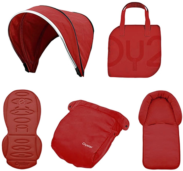 Oyster Набор аксессуаров в коляску Tango Red 4 предмета tango салфетки carmona набор