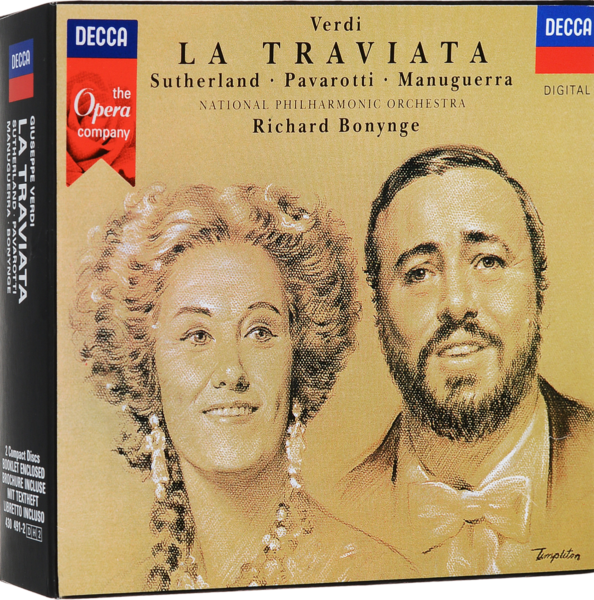 Ричард Бонинг Richard Bonynge. Verdi: La Traviata (2 CD) la traviata venice