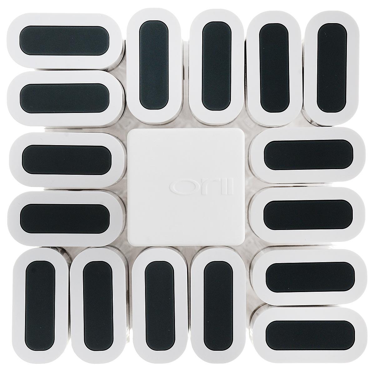 """Набор для специй """"Weifang Sunnycal Co., Ltd."""" включает 16 емкостей для специй, расположенных  на оригинальной крутящейся подставке, благодаря чему емкости не потеряются и всегда будут у  вас под рукой. Емкости выполнены из высококачественного, легкого пластика и снабжены  небольшими крышками. Герметичное закрытие обеспечивает самое лучшее хранение. Благодаря  небольшим отверстиям удобно насыпать специи.  Модный и элегантный дизайн набора  украсит интерьер вашей кухни. Наслаждайтесь приготовлением пищи с вашим набором баночек  для специй.  Размер емкости: 15,5 х 3,7 х 1,8 см.  Размер подставки: 12 х 12 х 20,5 см."""