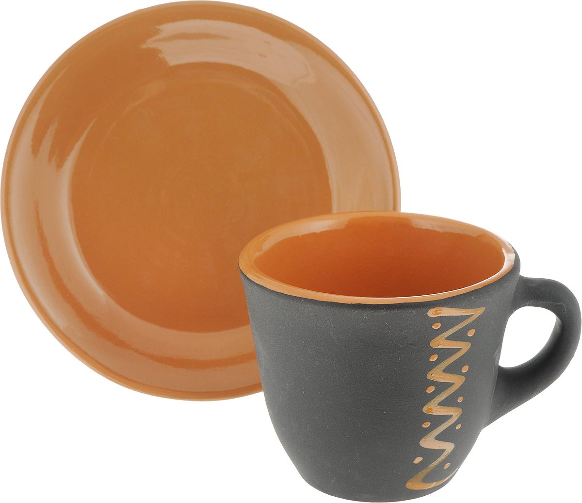 Чайная пара Борисовская керамика Чугун, 2 предметаЧУГ00000638_черный, коричневыйЧайная пара Борисовская керамика Чугун состоит из чашки и блюдца, изготовленных из высококачественной керамики. Такой набор украсит ваш кухонный стол, а также станет замечательным подарком к любому празднику.Можно использовать в микроволновой печи и духовке.Диаметр чашки (по верхнему краю): 10 см.Высота чашки: 8,5 см.Диаметр блюдца (по верхнему краю): 15,5 см.Высота блюдца: 2,5 см.Объем чашки: 300 мл
