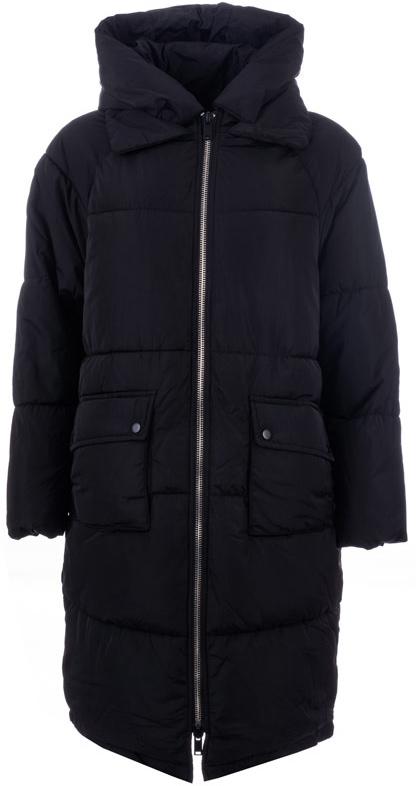 Куртка женская Only, цвет: черный. 15141921_Black. Размер XS (40/42)15141921_BlackУдлиненная женская куртка Only выполнена из стеганого текстиля и утеплена синтепоном. Модель-оверсайз с удлиненной спинкой, отложным воротником и капюшоном с отворотом на кнопках застегивается на металлическую молнию с внутренней ветрозащитной планкой. Изделие дополнено четырьмя внешними карманами. Манжеты рукавов с внутренней стороны собраны на резинку.