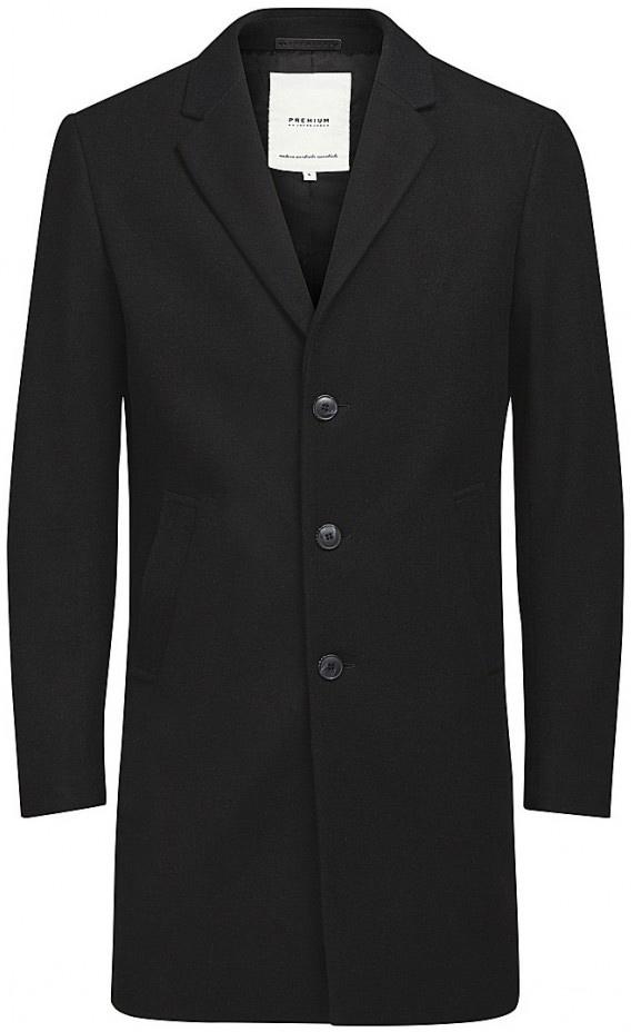 Пальто мужское Jack & Jones, цвет: темно-серый. 12123300_Dark Grey Melange. Размер XXL (54)