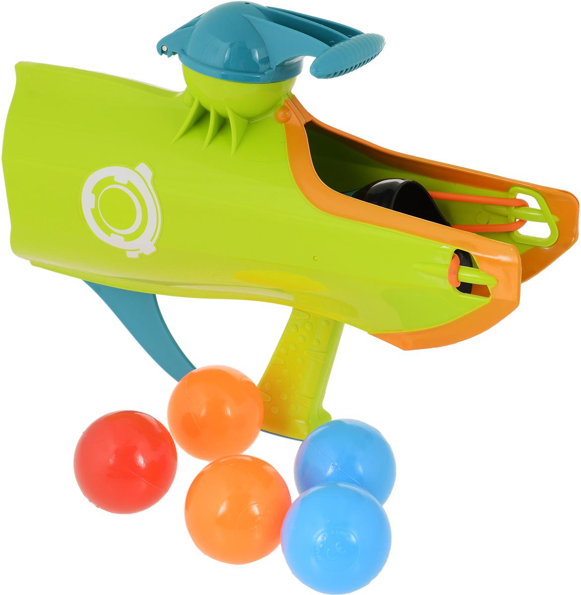 Веселые забавы Бластер для снежков 2 в 1 цвет салатовый - Игрушечное оружие