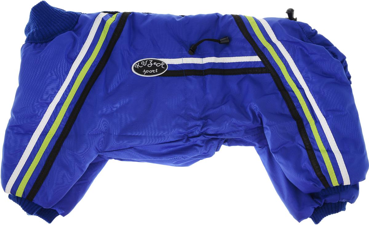 Комбинезон для собак Kuzer-Moda Спринт, унисекс, утепленный, цвет: синий. Размер 27XL