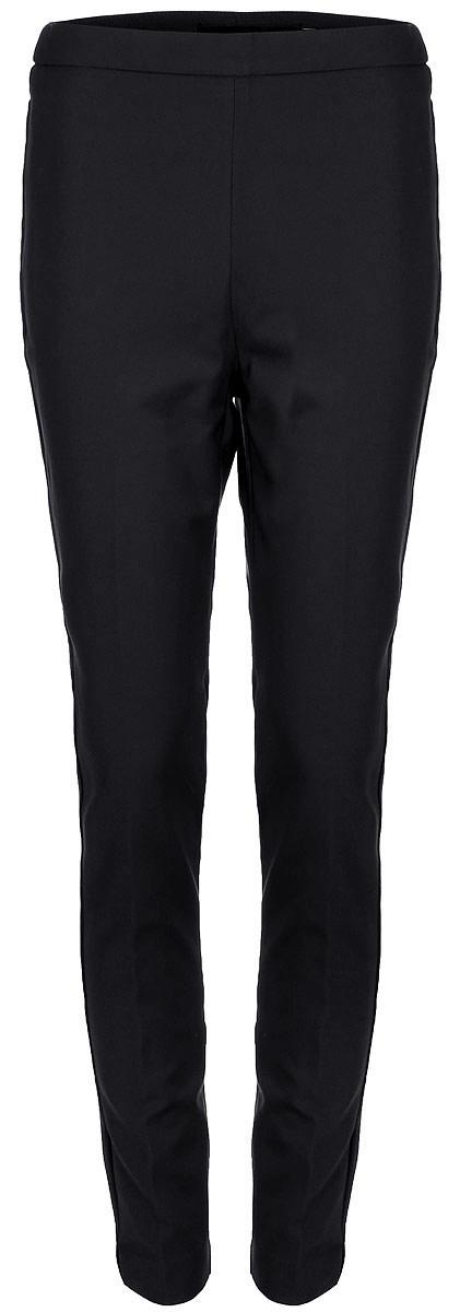 Брюки женские Vero Moda, цвет: черный. 10188388_Black. Размер 4210188388_BlackСтильные однотонные брюки, выполненные из эластичного комбинированного материала, отлично дополнят ваш гардероб. Модель зауженного кроя сзади дополнена имитацией двух прорезных карманов.