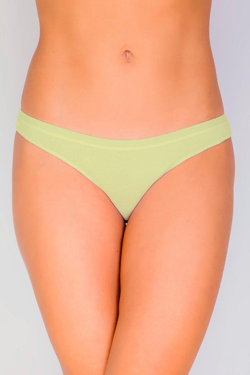 Трусы-бразильяна женские Vis-A-Vis, цвет: желтый. DSL1280. Размер XS (42) пуловер vis a vis цвет оливковый