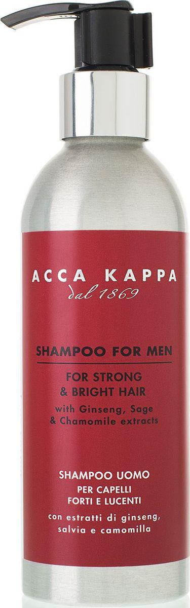 Acca Kappa Шампунь для мужчин, 200 мл853522Шампунь из коллекции Barber Shop создан специально для мужских волос. Смесь натуральных ингредиентов и ментол насыщают волосы и кожу головы витаминами и освежают. Протеины пшеницы обволакивают волосы невидимой пленкой, предотвращая ломкость, защищая и укрепляя их. Экстракт женьшеня оказывает стимулирующее действие, улучшающее рост волос. Не содержит парабенов, содиум лаурил сульфата, ГМО.