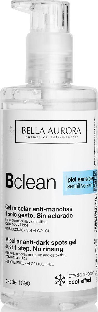 Bella Aurora Мицелярный гель для чувствительной кожи, 250 млBA4050600Депигментирующий и успокаивающий очищающий гель. Мицеллы, содержащиеся в геле, очищают лицо, глаза и губы от загрязнений и макияжа, не раздражая кожу.