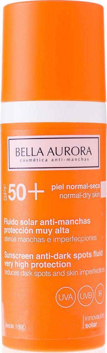 Bella Aurora Флюид для лица солнцезащитный SPF50+, 50 млBA4096133Солнцезащитный флюид SPF50 + от пятен для нормальной и сухой кожи обеспечивает максимальную защиту благодаря своей улучшенной формуле с широким спектром солнечных фильтров UVA, UVB и IR. Имеет легкую текстуру флюида, которая легко впитывается и оставляет кожу увлажненной и матовой. Улучшает увлажненность сухой кожи и уменьшает пятна. Формула содержит мощные депигментирующие компоненты, уменьшающие уже имеющиеся на коже пятна и предотвращающие образование новых пятен. Смягчает кожу во время нахождения под солнцем, снимает воспаление. Содержит увлажняющие, успокаивающие ингредиенты и антиоксиданты для защиты кожи от фотостарения. Содержит SPF50+.