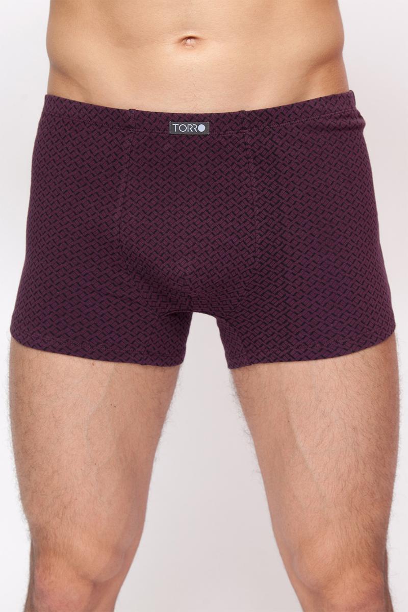 Трусы-шорты мужские Torro, цвет: бордовый. TMX2091. Размер M (48)TMX2091Мужские трусы-шорты выполнены из эластичного хлопка. Модель на талии дополнена широкой резинкой и оформлена оригинальным принтом.