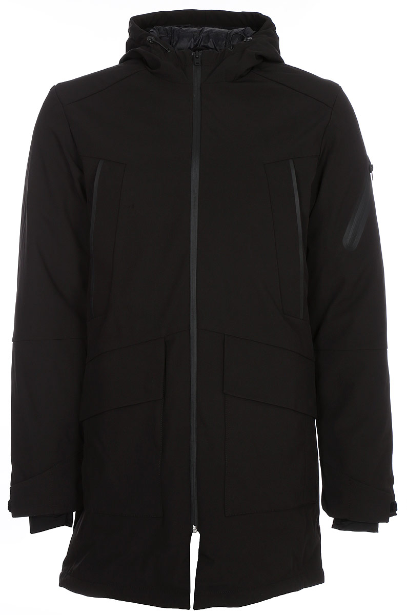Куртка муж Jack & Jones, цвет: черный. 12124269_Black. Размер XL (52)12124269_Black