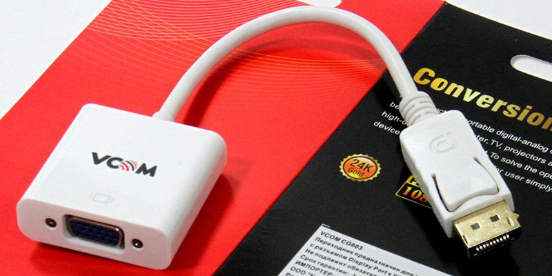 VCOM CG603, White кабель-переходник DisplayPort M - VGA F (0,15 м)
